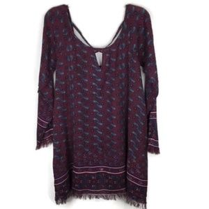 Chelsea & Violet Size S Boho Long Sleeve Dress